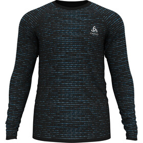 Odlo Blackcomb Ceramicool T-Shirt L/S Crew Neck Men, black/space dye
